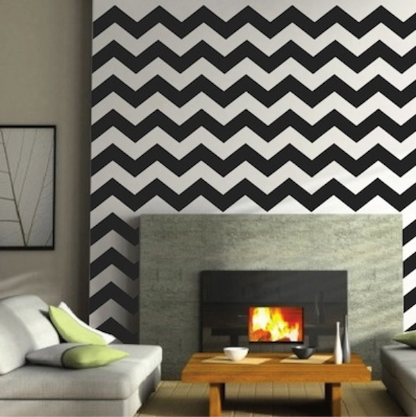 Chevron Wall Decals | Trendy Wall Designs