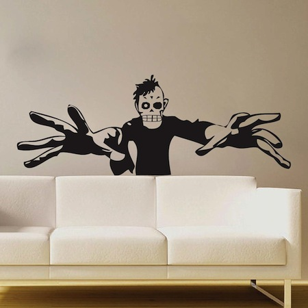 3d zombie wall art mural trendy wall designs for 3d wall decals