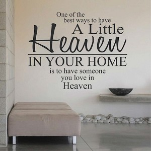 Heaven In Your Home Wall Decal Saying