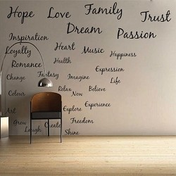 Inspirational Wall Letterings
