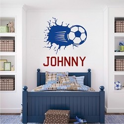 3d Soccer Wall Decal