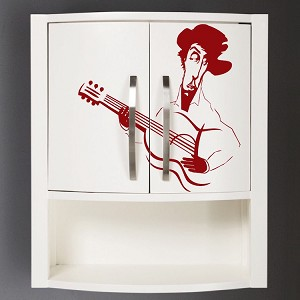Guitarist Vinyl Art Decal Sticker