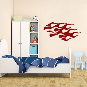 Bedroom Flame Wall Decal Sticker