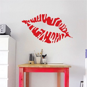 Pucker Lips Wall Decal