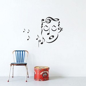 Music Singer Wall Art Decal