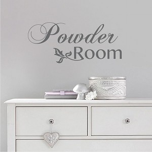 Powder Room Vinyl Decal Sticker