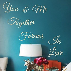 Romantic Bedroom Wall Quote Decal