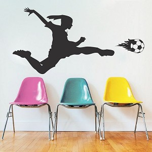 Soccer Girl Wall Decal