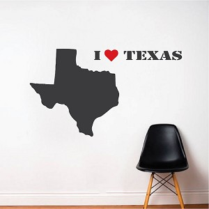 I Love Texas Decal Sticker
