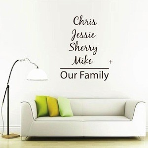 Custom Family Wall Decal