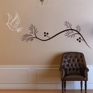 Dove Trail Wall Decal