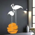 Sunset Flamingo Wall Decal