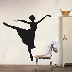 Ballet Girl Wall Decal