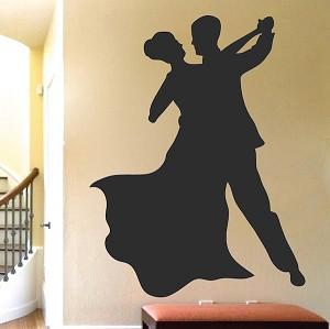 Ballroom Dancers Wall Decal
