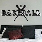 Baseball Wall Decal 20b