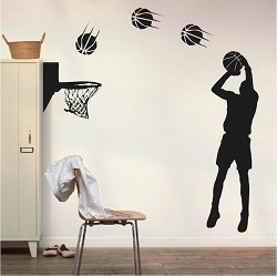 Basketball Player Wall Appliqué