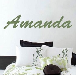 Customizable Brush Script Wall Decal Font