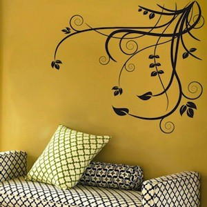 Floral Adornment Wall Decal