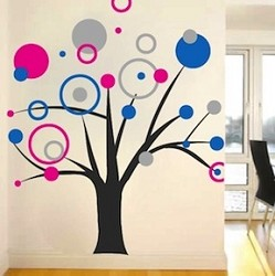 Rings & Dots Tree Decal