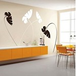 Leafy Stems Wall Art Design