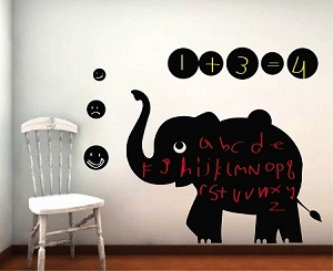 Cute Elephant Chalkboard Decal