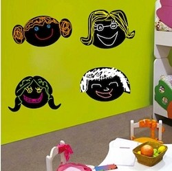 Faces Chalkboard Decals
