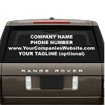 Custom Business Lettering Vinyl Decal