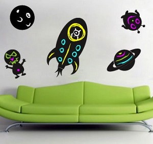 Outer Space Chalkboard Decals