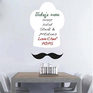 Chef Hat Dry Erase Wall Decal