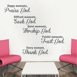 Spiritual Moments Wall Quote