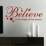Believe Holiday Wall Quote