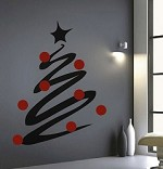 Modern Christmas Tree Wall Decal