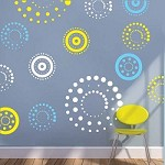 Circling Dots Wall Decals
