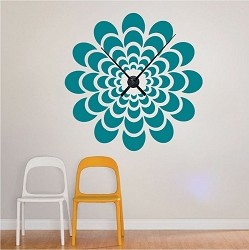 Flower Clock Decal