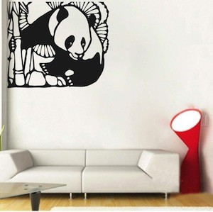 Corner Panda Wall Decal