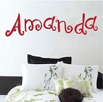 Curly Font - Sample Name Wall Decal
