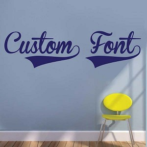 Customizable Brannboll Fet Vinyl Letterings