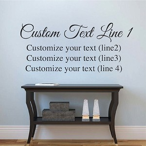 Customize Two Fonts Vinyl Decal