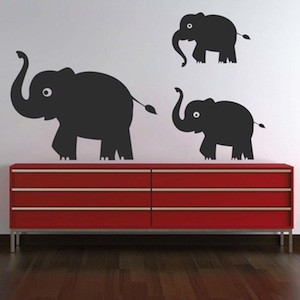 Cute Elephant Wall Decals From Trendy Wall Designs - Elephant wall decals