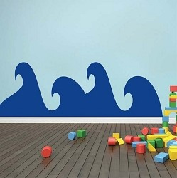 Cute Waves Wall Decal