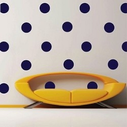 Even Polka Dot Wall Art Design