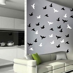 20 Mini Birds Wall Decals