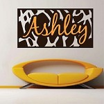 Animal Print Frame/Name