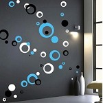 Contemporary Rings & Dots Wall Decals