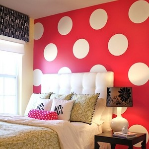 Equal polka dot wall decals trendy wall designs for Polka dot bedroom designs