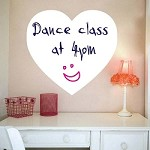 Dry Erase Heart Wall Decals