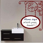 Hanging Oval Dry Erase Decal
