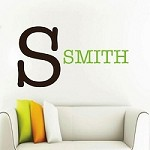 Initial & Family Name Wall Decal