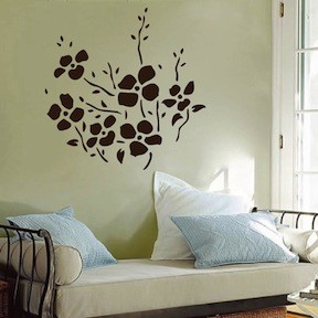 Trendy Flower Bunch Decals