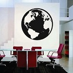 Classic Globe Wall Decal